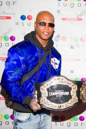 Stock Photo of Zab Judah attends the Celebrity Championship Boxing dinner at Sugar Factory Atlanta.