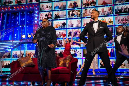 Stock Photo of The 'End Of The Show, Show' featuring: Anthony McPartlin and Declan Donnelly, Mo Gilligan, Sir Mo Farah, Stephen Mulhern, Jon Courtenay, Felur East, David Guetta, Joel Corry, RAE and Andy Peters