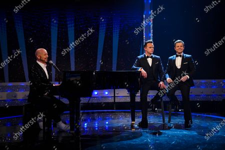 Anthony McPartlin and Declan Donnelly with Jon Courtenay