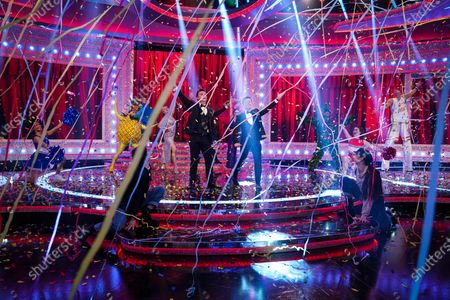 The 'End Of The Show, Show' featuring: Anthony McPartlin and Declan Donnelly, Mo Gilligan, Sir Mo Farah, Stephen Mulhern, Jon Courtenay, Felur East, David Guetta, Joel Corry, RAE and Andy Peters