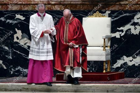 Editorial picture of Pope Francis celebrates Good Friday Mass for the Passion, Vatican City, Rome, Italy - 02 Apr 2021