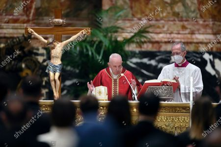 Editorial image of Pope Francis celebrates Good Friday Mass for the Passion, Vatican City, Rome, Italy - 02 Apr 2021