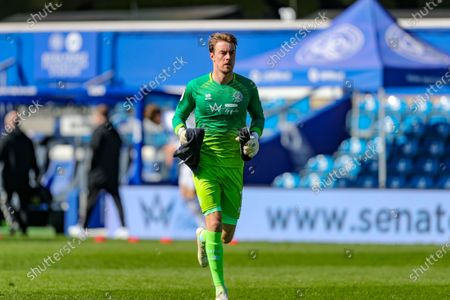 QPR keeper Joe Lumley during the Sky Bet Championship match between Queens Park Rangers and Coventry City at Kiyan Prince Foundation Stadium, London on Friday 2nd April 2021.