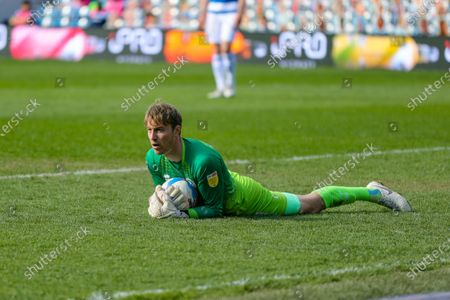 QPRs Joe Lumley during the Sky Bet Championship match between Queens Park Rangers and Coventry City at Kiyan Prince Foundation Stadium, London on Friday 2nd April 2021.