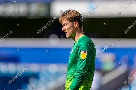 QPR golakeeper Joe Lumley during the Sky Bet Championship match between Queens Park Rangers and Coventry City at Kiyan Prince Foundation Stadium, London on Friday 2nd April 2021.