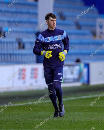 Stock Image of QPRs Joe Walsh during the Sky Bet Championship match between Queens Park Rangers and Coventry City at Kiyan Prince Foundation Stadium, London, Engalnd on 2nd April 2021.
