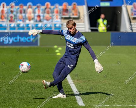 QPR's Joe Lumley before the Sky Bet Championship match between Queens Park Rangers and Coventry City at Kiyan Prince Foundation Stadium, London, Engalnd on 2nd April 2021.