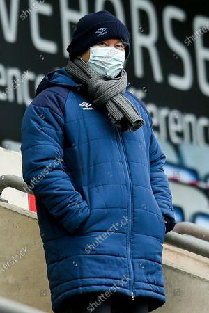 Stock Picture of England Head Coach Eddie Jones watches Wasps v ASM Clermont Auvergne