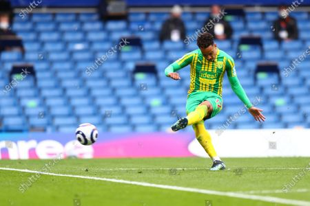 Matheus Pereira of West Bromwich in action during the English Premier League soccer match between Chelsea FC and West Bromwich Albion in London, Britain, 03 April 2021.
