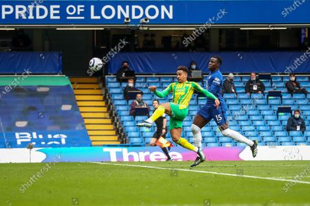 Matheus Pereira (L) of West Bromwich scores a goal during the English Premier League soccer match between Chelsea FC and West Bromwich Albion in London, Britain, 03 April 2021.