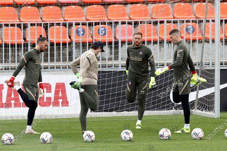 Editorial image of Atletico Madrid training session, Majadahonda, Spain - 03 Apr 2021