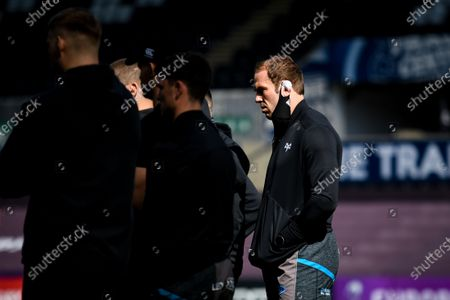 Ospreys vs Newcastle Falcons. Ospreys' Alun Wyn Jones before the game