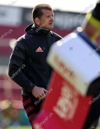 Stock Image of Munster vs Toulouse. Munster Forwards Coach Graham Rowntree