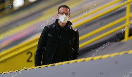 Stock Picture of Fredi Bobic, Sporting Director of Eintracht Frankfurt, attends the German Bundesliga soccer match between Borussia Dortmund and Eintracht Frankfurt at Signal Iduna Park in Dortmund, Germany, 03 April 2021.