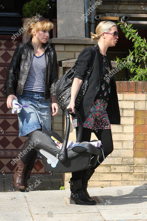 Denise Van Outen and baby Betsy Mead