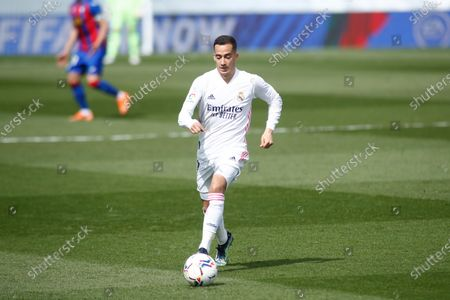 Lucas Vazquez of Real Madrid in action during the spanish league, La Liga, football match played between Real Madrid and SD Eibar at Alfredo Di Stefano stadium on April 03, 2021 in Valdebebas, Madrid, Spain.