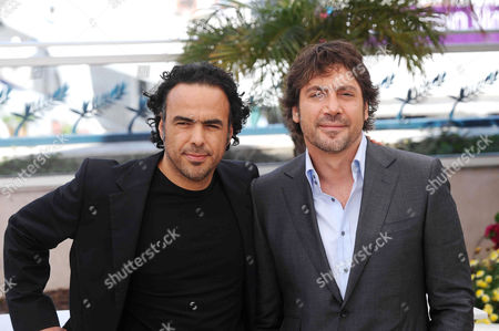 Stock Photo of Alejandro Gonzales Inarritu and Javier Bardem