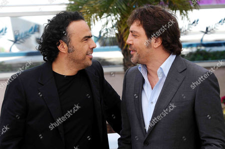 Stock Image of Alejandro Gonzales Inarritu and Javier Bardem