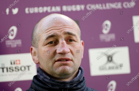 Leicester Tigers vs Connacht. Leicester's head coach Steve Borthwick