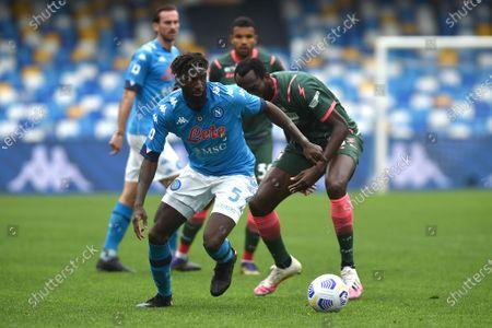 Tiemoue Bakayoko of SSC Napoli during the Serie A match between SSC Napoli and FC Crotone at Stadio Diego Armando Maradona Naples Italy on 3 April 2021.