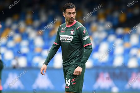 Samuel Di Carmine of FC Crotone during the Serie A match between SSC Napoli and FC Crotone at Stadio Diego Armando Maradona Naples Italy on 3 April 2021.