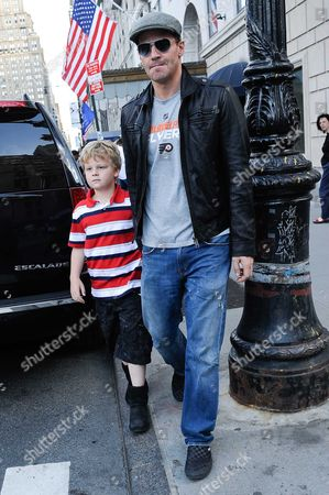 Editorial photo of David Boreanaz out and about in New York, America - 16 May 2010
