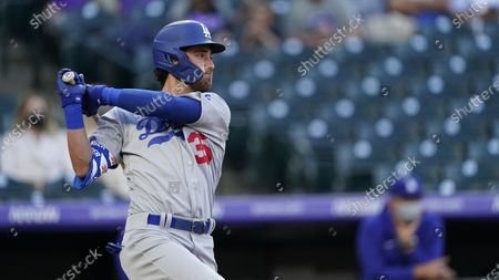 Los Angeles Dodgers center fielder Cody Bellinger (35) in the first inning of a baseball game, in Denver