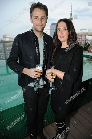 Stock Picture of Richard Bacon and wife Rebecca McFarlane