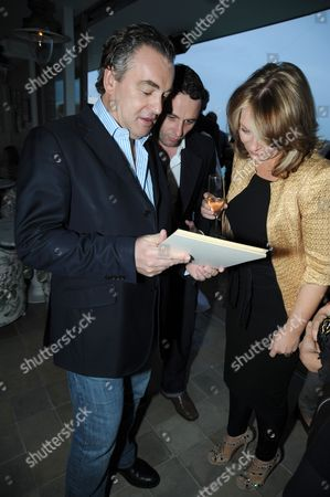Kenton Allen, Matthew Rhys and Kirsty Young