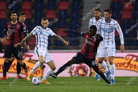 Editorial picture of Soccer: Serie A 2020-2021 : Bologna 0-1 Inter, Bologna, Italy - 03 Apr 2021