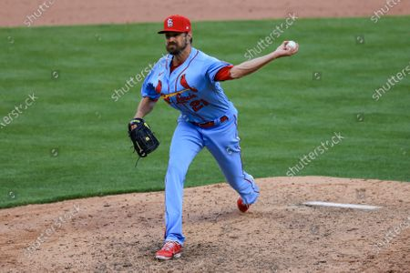 St. Louis Cardinals' Andrew Miller throws during a baseball game against the Cincinnati Reds in Cincinnati, . The Reds won 9-6