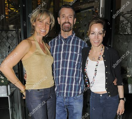 Rupert Everett and Tara Palmer-Tomkinson with female friend.