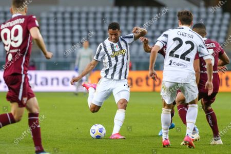 Danilo Luiz da Silva of Juventus FC during the Serie A football match between Torino FC and Juventus FC at Olympic Grande Torino Stadium on April 03, 2021 in Turin, Italy. 