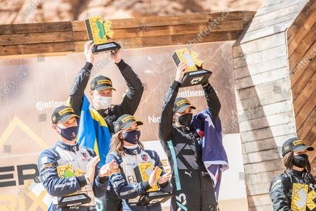 Molly Taylor (AUS)/Johan Kristoffersson (SWE), Rosberg X Racing Catie Munnings (GBR)/Timmy Hansen (SWE), Andretti United Extreme E during the 2021 Extreme E Desert X Prix