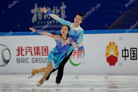 Chinese figure skaters Ding Xinai and He Linghao perform their Ice Dance Free Dance during a test event for the 2022 Beijing Winter Olympics at the Capital Indoor Stadium in Beijing, . The organizers of the 2022 Beijing Winter Olympics has started 10 days of testing for several sport events in five different indoor venues from April 1-10, becomes the first city to hold both the Winter and Summer Olympics