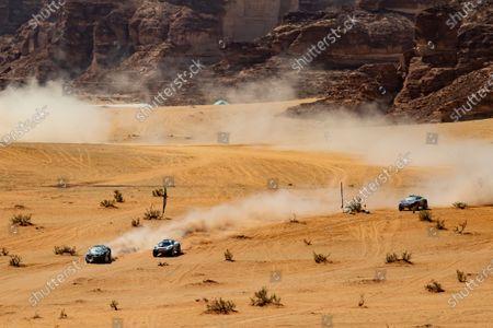 Molly Taylor (AUS)/Johan Kristoffersson (SWE), Rosberg X Racing Catie Munnings (GBR)/Timmy Hansen (SWE), Andretti United Extreme E Cristina Gutierrez (ESP)/Sebastien Loeb (FRA), X44 during the 2021 Extreme E Desert X Prix