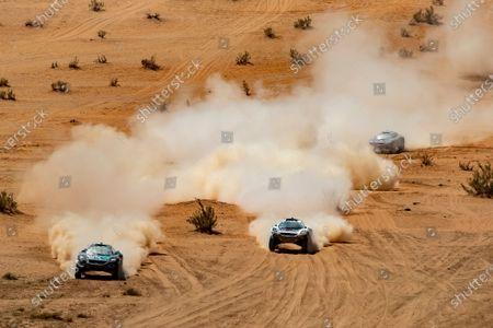 Stock Image of Molly Taylor (AUS)/Johan Kristoffersson (SWE), Rosberg X Racing Catie Munnings (GBR)/Timmy Hansen (SWE), Andretti United Extreme E Cristina Gutierrez (ESP)/Sebastien Loeb (FRA), X44 during the 2021 Extreme E Desert X Prix