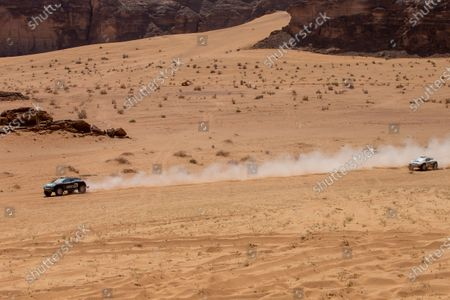 Molly Taylor (AUS)/Johan Kristoffersson (SWE), Rosberg X Racing and Catie Munnings (GBR)/Timmy Hansen (SWE), Andretti United Extreme E during the 2021 Extreme E Desert X Prix