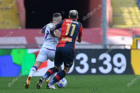 Editorial photo of Genoa CFC vs ACF Fiorentina, Serie A, Football, Luigi Ferraris stadium, Genova, Italy - 03 Apr 2021