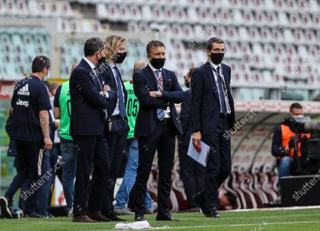 Vice-President of Juventus FC Pavel Nedved and his staff