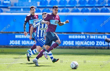 Jeison Murillo of Real Club Celta de Vigo during the Spanish league, La Liga Santander, football match played between Deportivo Alaves and RC Celta de Vigo at Mendizorroza stadium on April 04, 2021 in Vitoria, Spain.