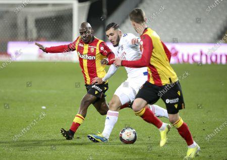 Editorial picture of RC Lens vs Olympique Lyonnais, Ligue 1, Bollaert-Delelis stadium, Lens, France - 03 Apr 2021