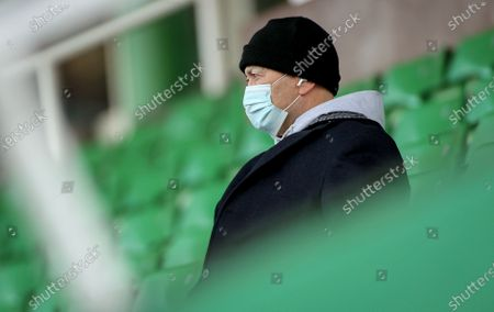 Harlequins vs Ulster. England Head Coach Eddie Jones attends the game