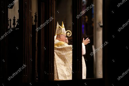 Editorial image of New York Easter Sunday Mass at St. Patricks Cathedral, USA - 04 Apr 2021