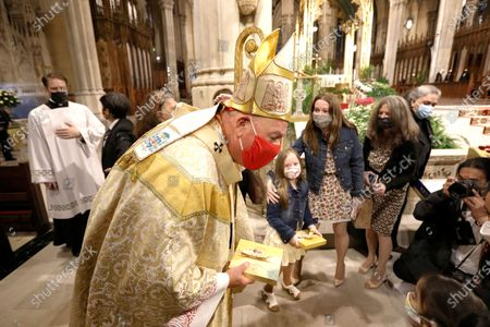 Editorial picture of New York Easter Sunday Mass at St. Patricks Cathedral, USA - 04 Apr 2021