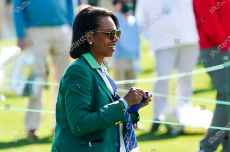 Former Secretary of State and Augusta National Member Condoleezza Rice watches the Drive, Chip and Putt National Championship at Augusta National in Augusta, Georgia on Sunday, April 4, 2021. Photo by Kevin Dietsch/UPI
