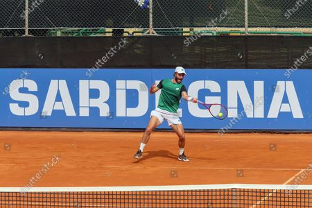 Liam Broady during the ATP Tour 250 Sardegna Open tennis match in Cagliari, Italy on April 04, 2021.