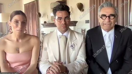 Sarah Levy, Daniel Levy and Eugene Levy - Outstanding Performance by an Ensemble in a Comedy Series - Schitt's Creek