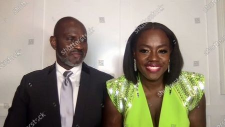 Viola Davis - Outstanding Performance by a Female Actor in a Leading Role - Ma Rainey's Black Bottom (Ma Rainey), pictured with Julius Tennon