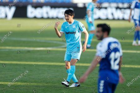 "Gaku Shibasaki (Leganes) - Football / Soccer : Spanish ""La Liga Smartbank"" match between CD Leganes 2-1 CE Sabadell FC at the Estadio Municipal de Butarque in Leganes, Spain."